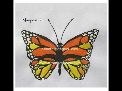 Butterfly One stroke. Mariposa One stroke. Farfalle. Papillons. Schmetterling. No. 3 - YouTube