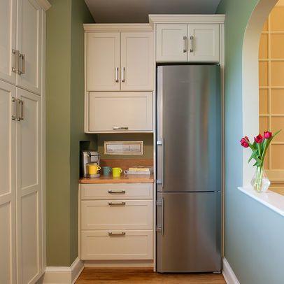 Tall Skinny Refrigerator Condo Remodel Washington Dc Contemporary Kitchen