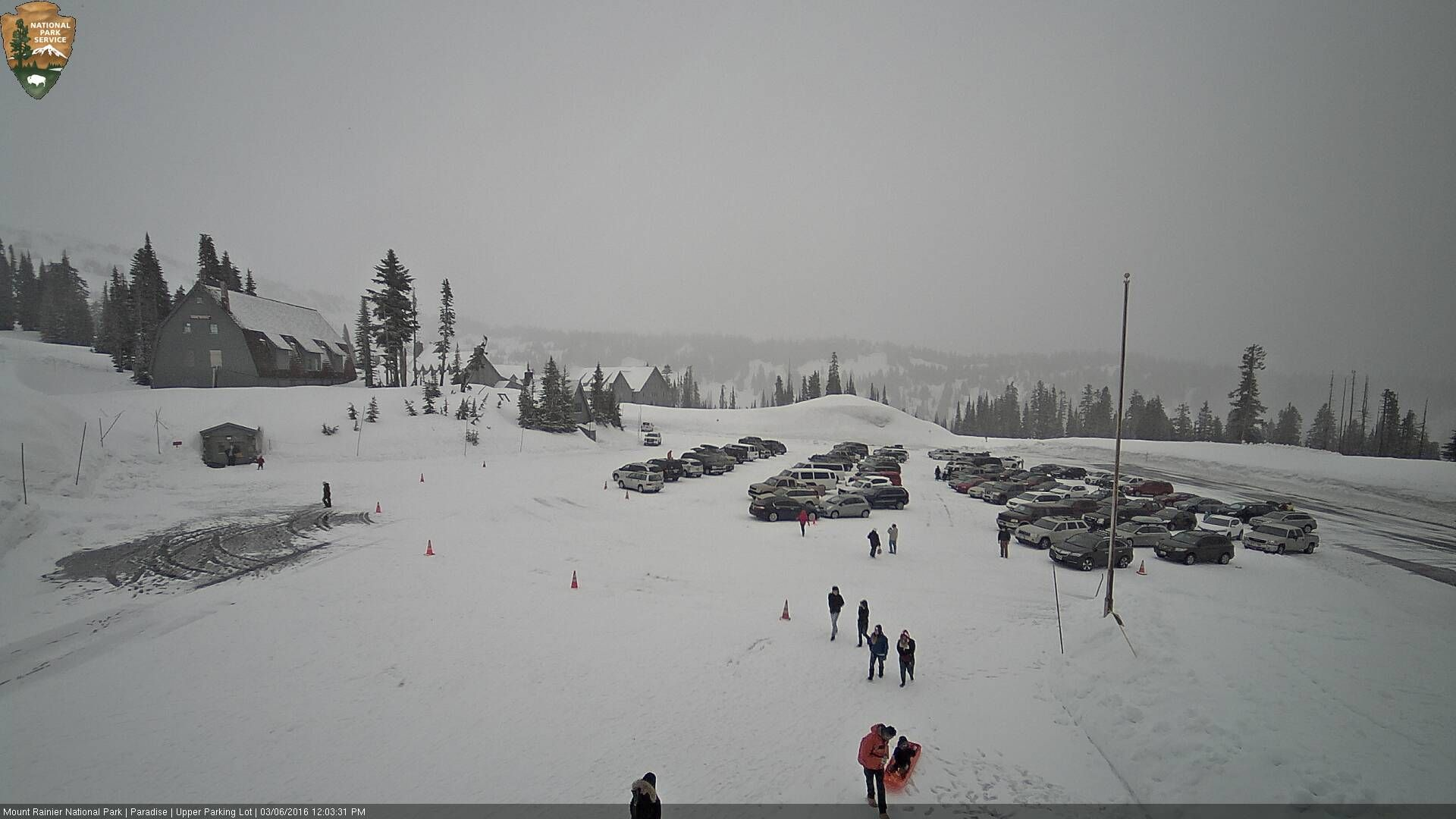 Mt. Rainier NP March 6, 2016 Looking east over the parking
