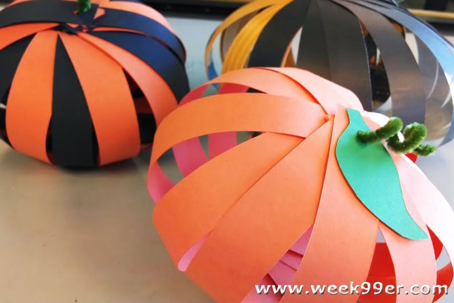Easy Paper Pumpkins Crafts for Kids! Halloween Pinterest Paper - how to make halloween decorations for kids