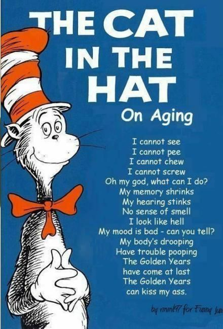 cdd9478f The Cat In The Hat; On Aging | Health | Funny picture quotes, 50th ...