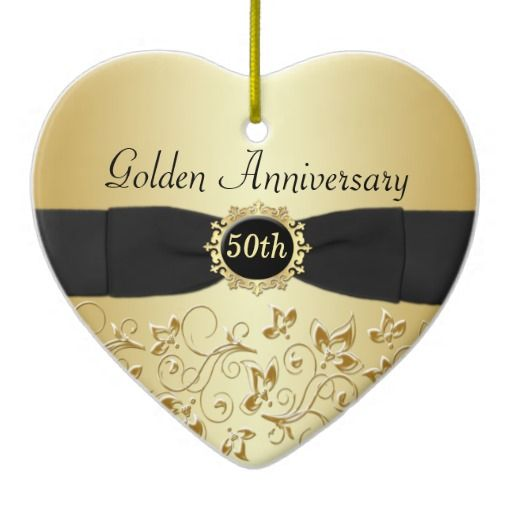 50th wedding anniversary christmas ornament