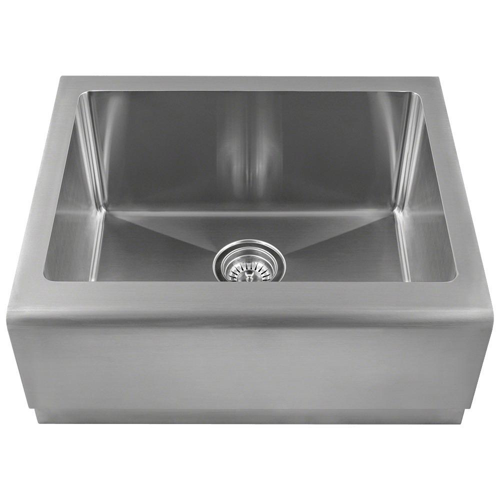 Mr Direct Farmhouse Apron Front Stainless Steel 23 3 4 In Single