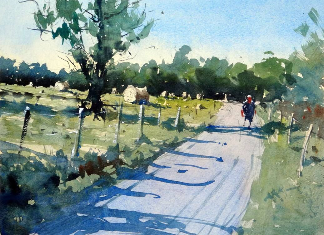 Guest Artist How To Paint A Simple Rural Scene In Watercolour