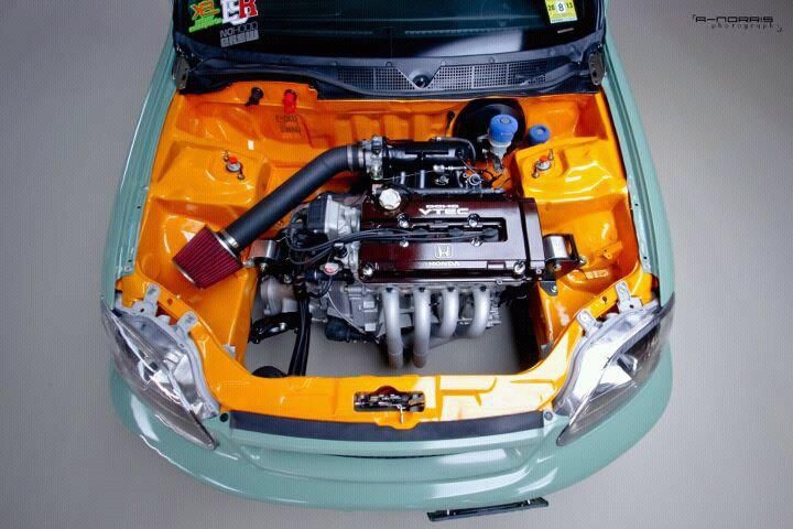 Wireless engine bay. B-series   Hondas   Honda cars, Cars ...