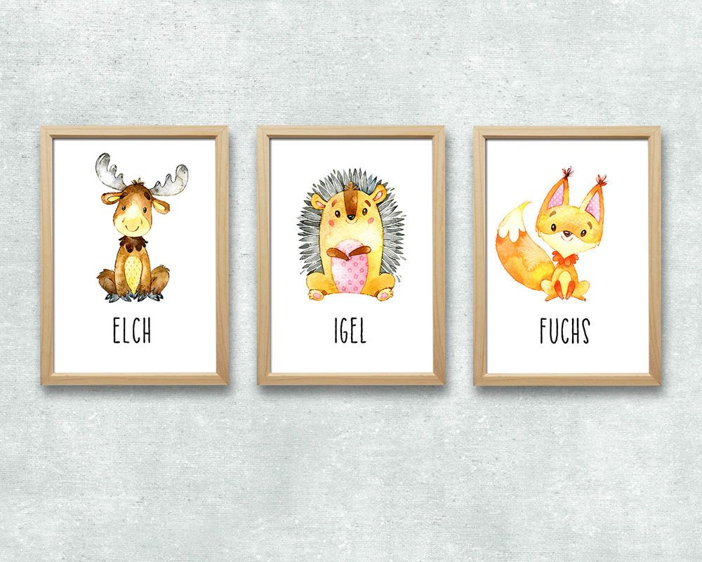 Kinderzimmer deko waldtiere dekoration bild idee for Kinderzimmer bilder tiere