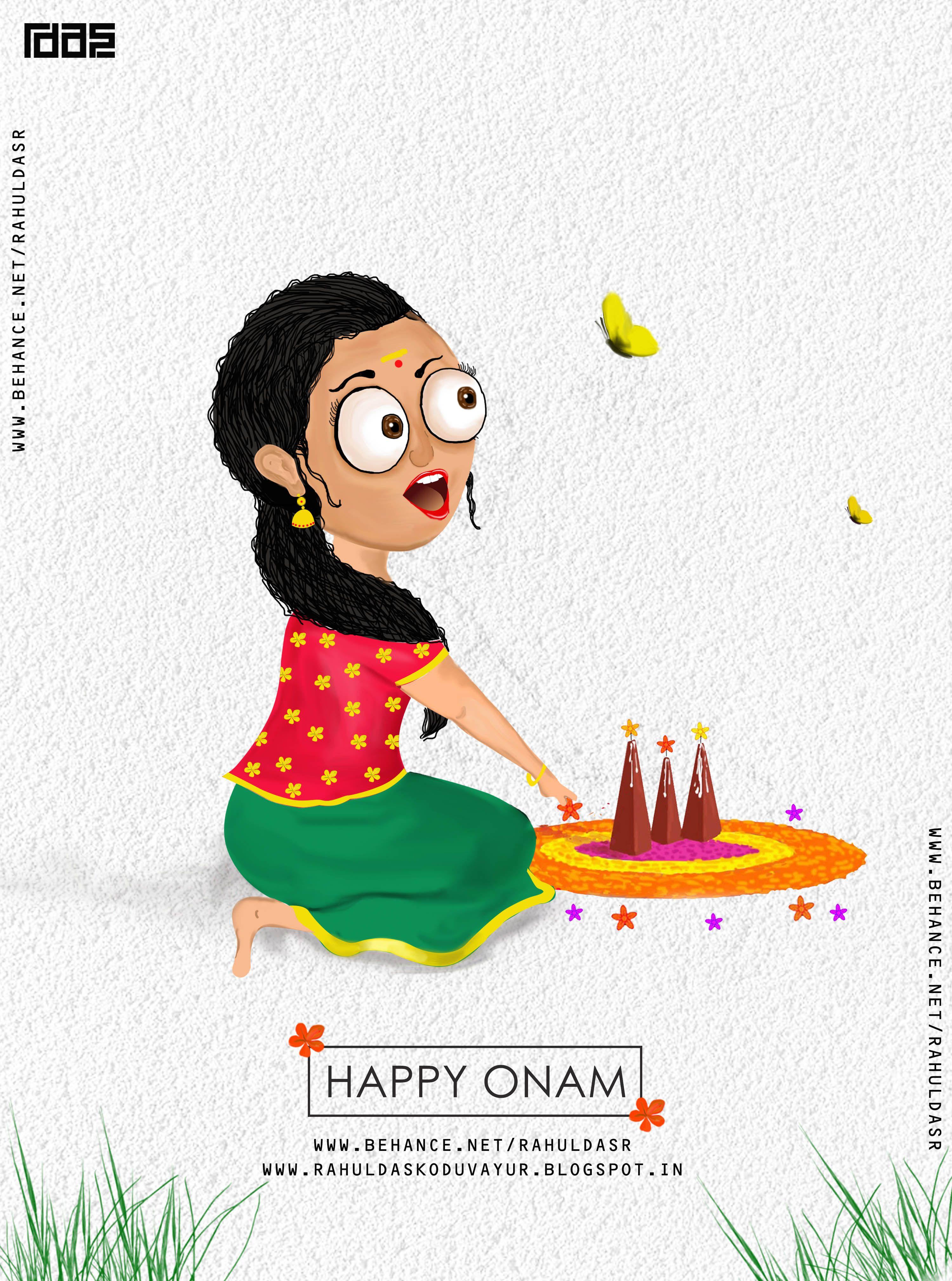 Happy Onam Onam Design Onam Poster Design Kerala Festival Onam