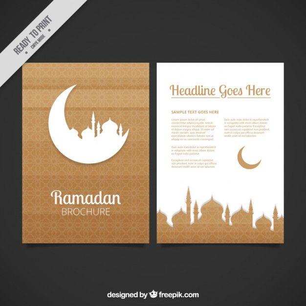 Brown ramadan flyer Free Vector    wwwfreepik free-vector - fresh invitation banner vector