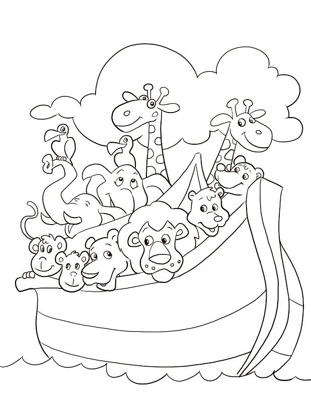 Coloring Pages Of Noah 39 S Ark 234725 And The