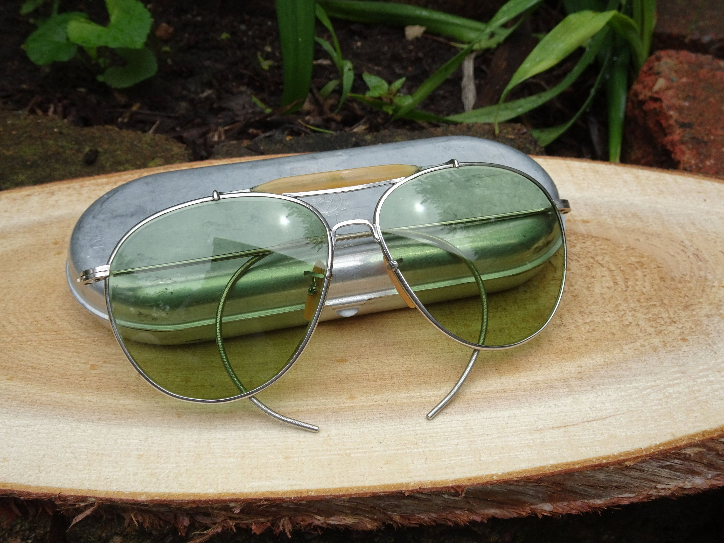be9131e59 Authentic Vintage Bausch and Lomb AN6531 Aviator Outdoors Men Sunglasses | Vintage  Eyewear | Aviator Glasses | Original Bausch and Lomb by Rue88Market on ...
