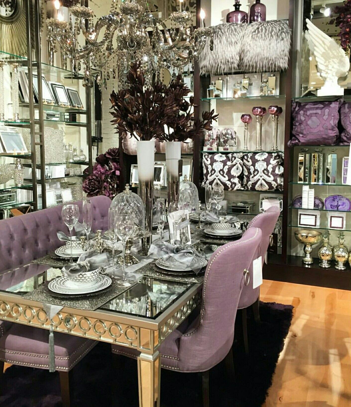 Credits Zgallerie What A Beautiful Table And Settings Beautiful Dining Room Decor Dining Room Table Decor Dinning Room Decor