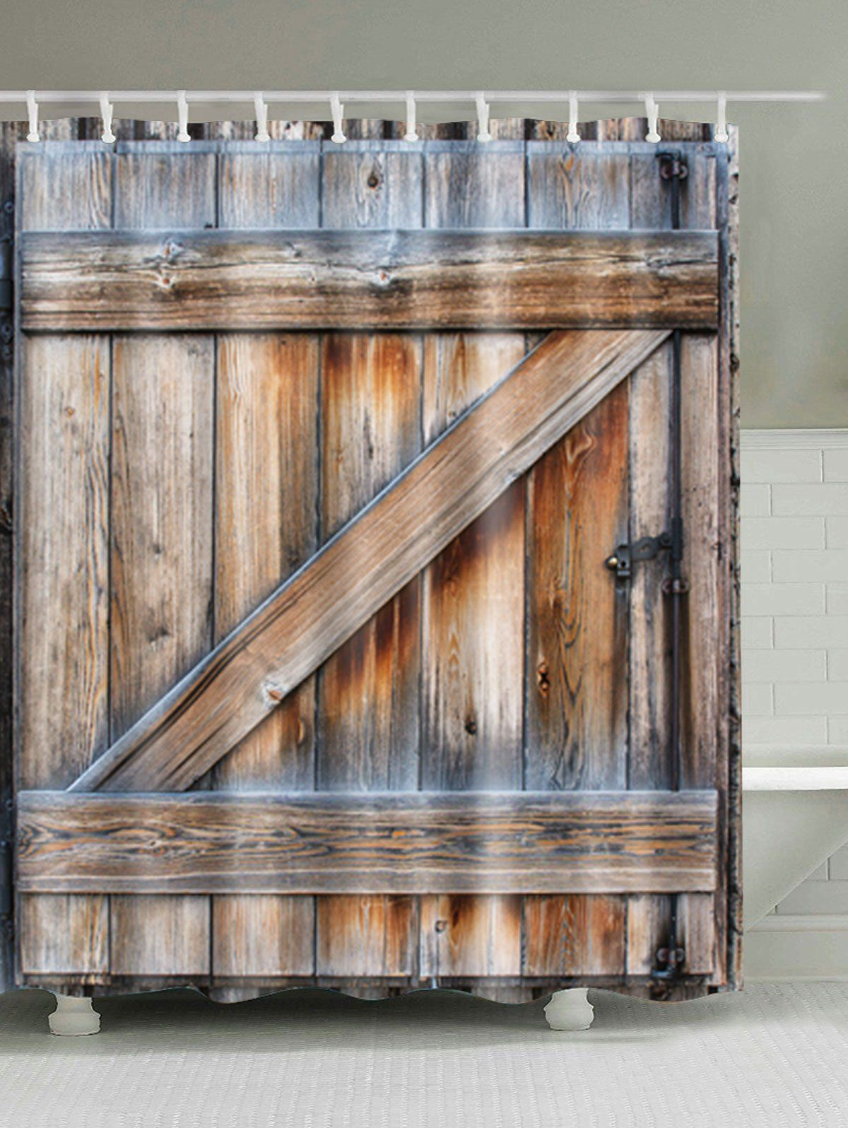 Door Waterproof Mildew Proof Shower Curtain Decoration