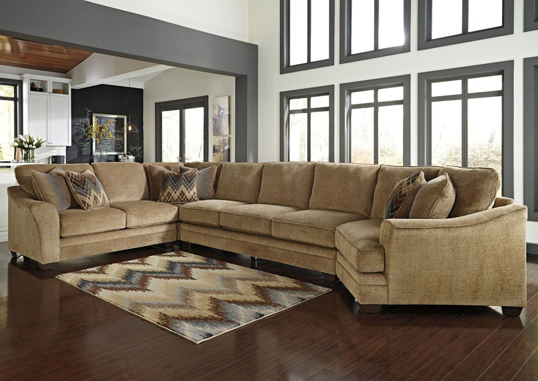 Hermann Furniture   Brenham, TX Lonsdale Barley Right Arm Facing Cuddler  End Extended Sectional