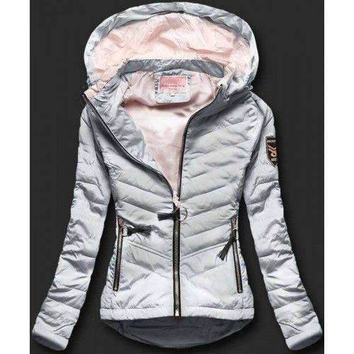 e7bf63c55455 Dámská jarní podzimní bunda Philly šedá – šedá – módní dámská bunda s delší  zadní