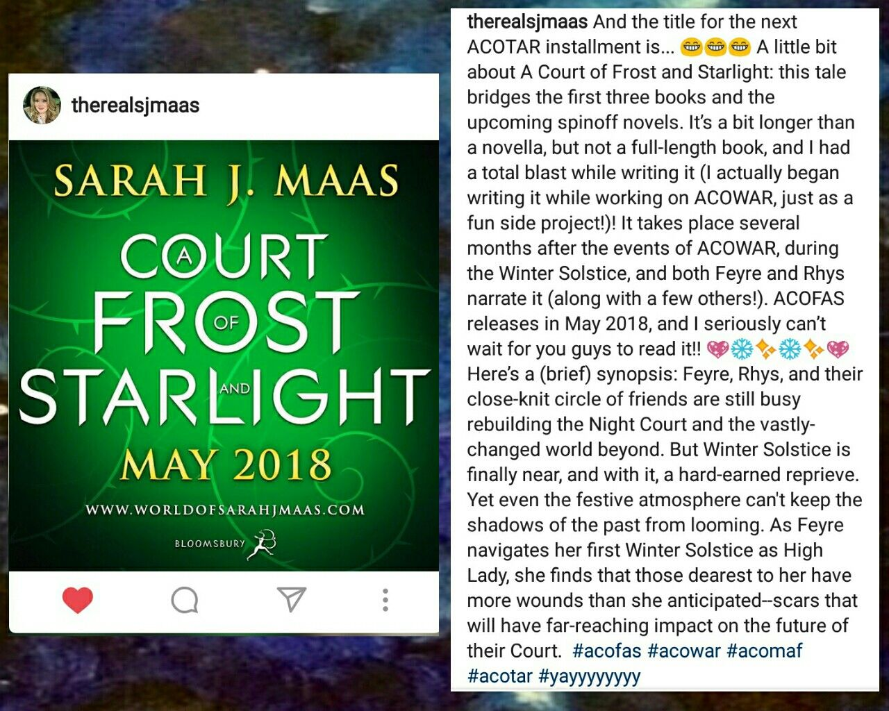 Acotar Novella Title Reveal It S Called A Court Of Frost And