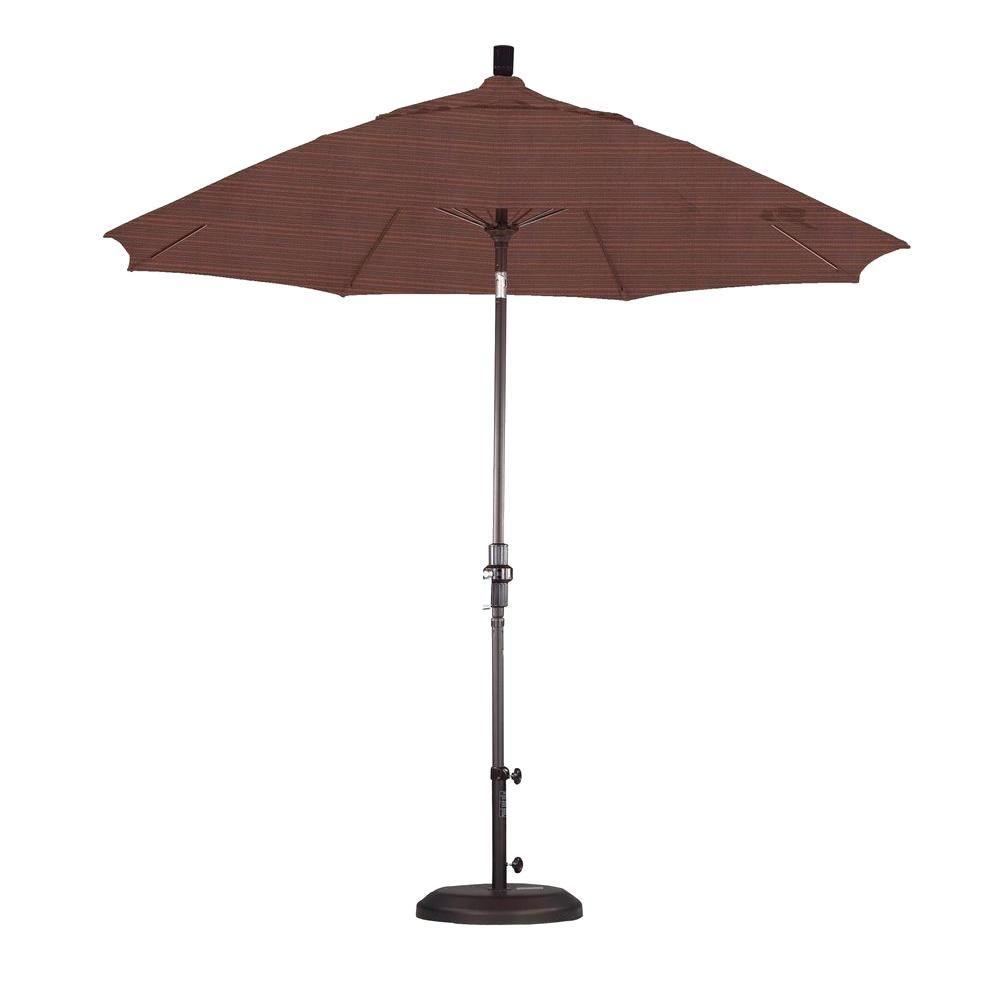 California Umbrella 9 ft. Fiberglass Collar Tilt Patio Umbrella in Terrace Adobe Olefin