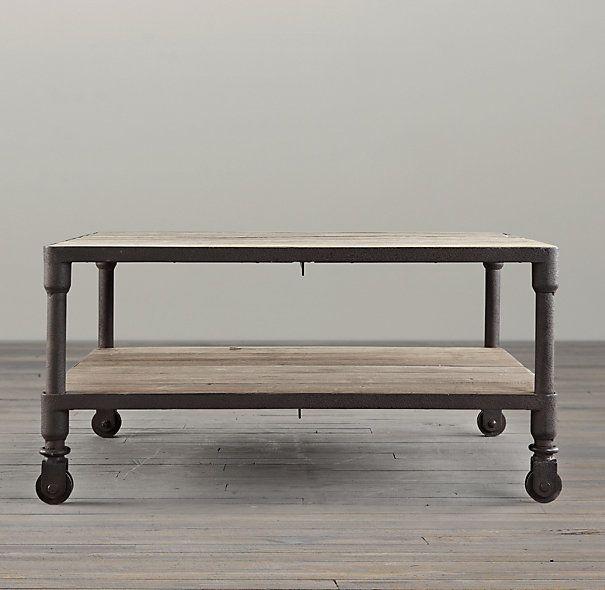 Restoration Hardware Dutch Industrial Coffee Table.Dutch Industrial Square Coffee Table For The Home Table Coffee
