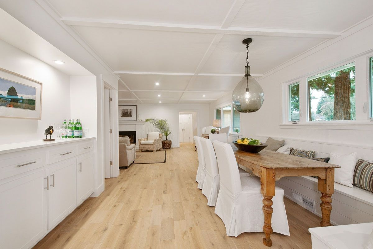 On Trend Lighthouse White Flooring French Oak Kitchen Cabinet Styles Flooring