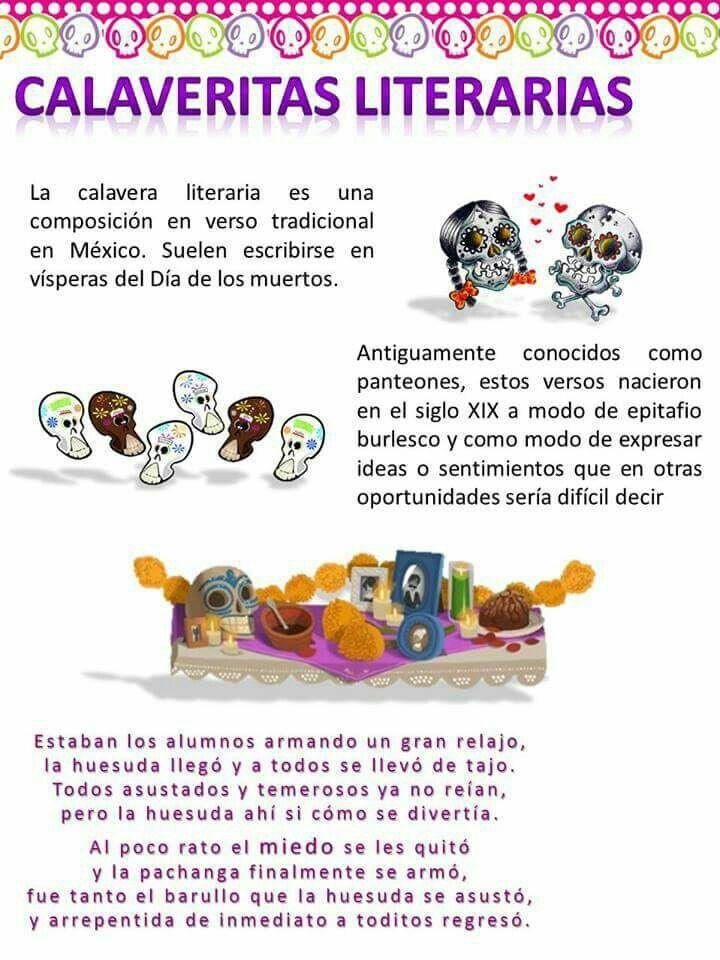 Calaveritas Literarias Dibujo Dia De Muertos Calaveras