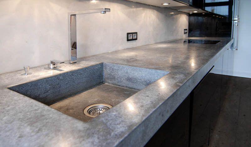 Beton Cire für Wände, Böden, Treppen, Arbeitsplatten Nice - küchenarbeitsplatte aus beton