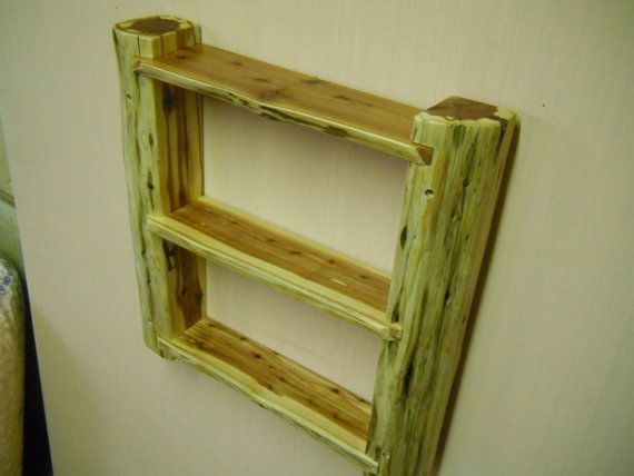 wall shelf rustic adirondack style handcrafted eastern red | Wood ...