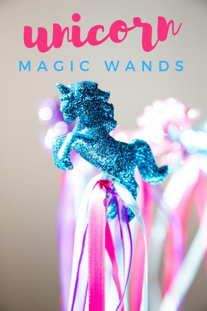 diy fantasy unicorn fairy magic wand centerpiece and party favors invitations d anniversaire maison