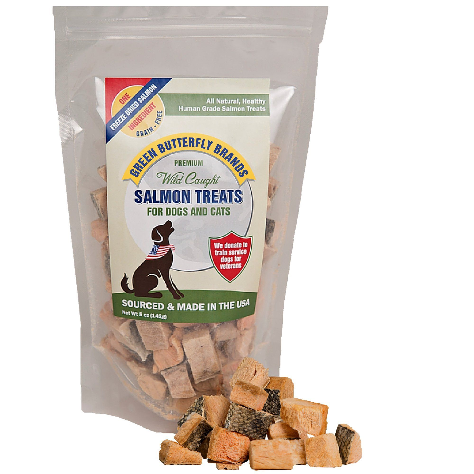Green Butterfly Brands Salmon Dog Treats Made In Usa Only One