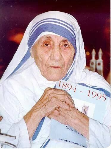 """Like Jesus we belong to the world living not for ourselves but for others. The joy of the Lord is our strength.""""  -Blessed Mother Teresa"""