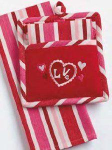 Valentine S Day Love Potholder Dishtowel Set With Images