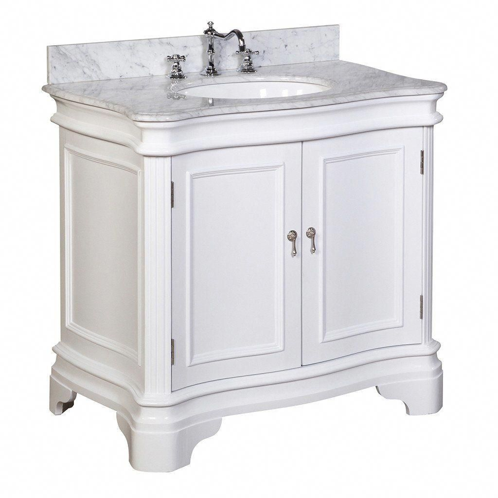 Katherine 36 Inch Vanity With Carrara Marble Top In 2021 Traditional Bathroom Vanity 36 Inch Bathroom Vanity Bathroom Vanity