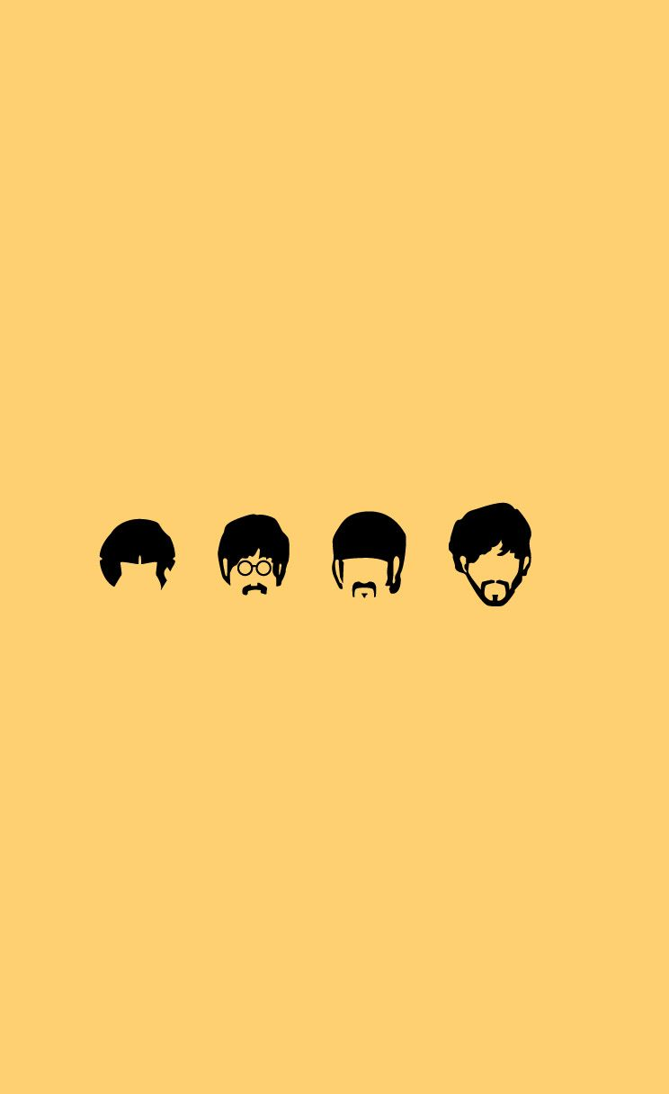 The Beatles Minimal Wallpapers 744 X 1216 Parallax