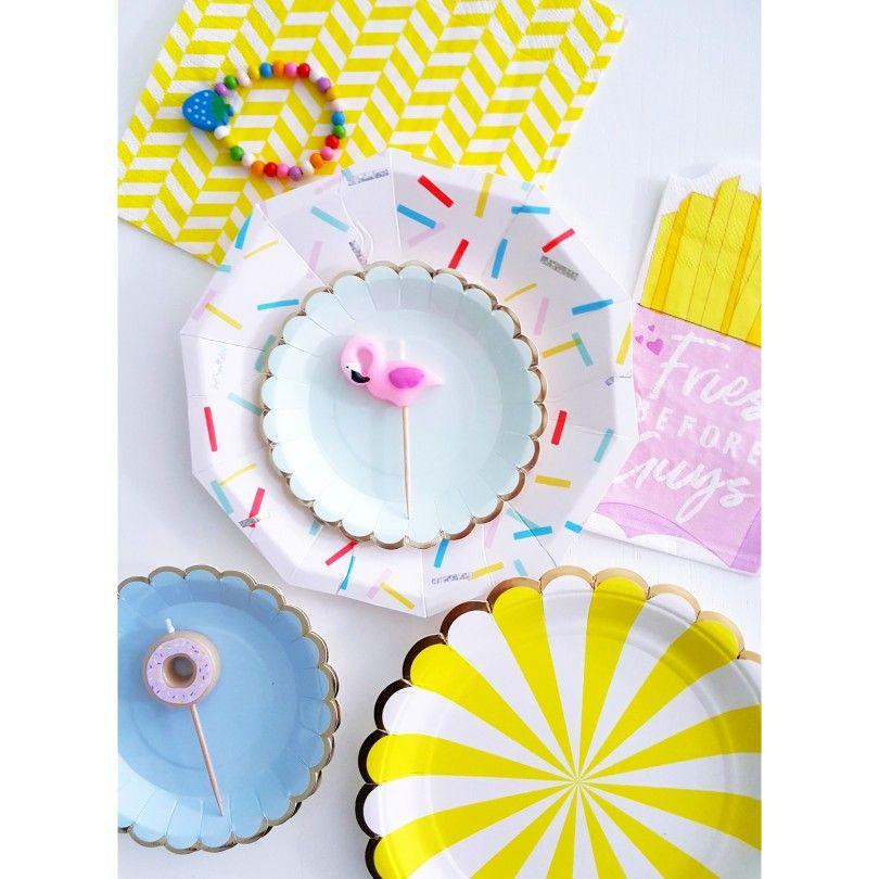 Happy Party Plates 💕 Meri Meri Party ☆Confetti & Balloons