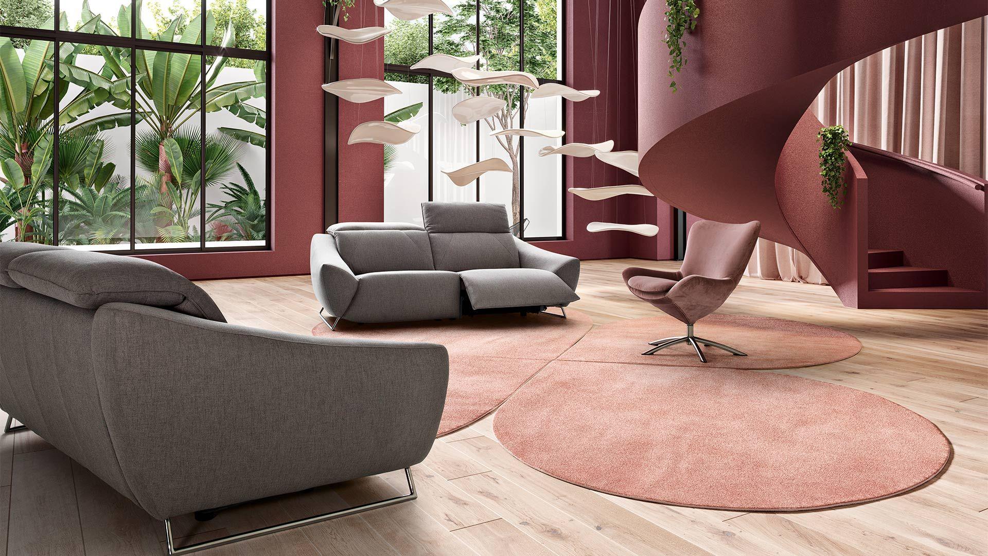 design relaxation tissu gris relax