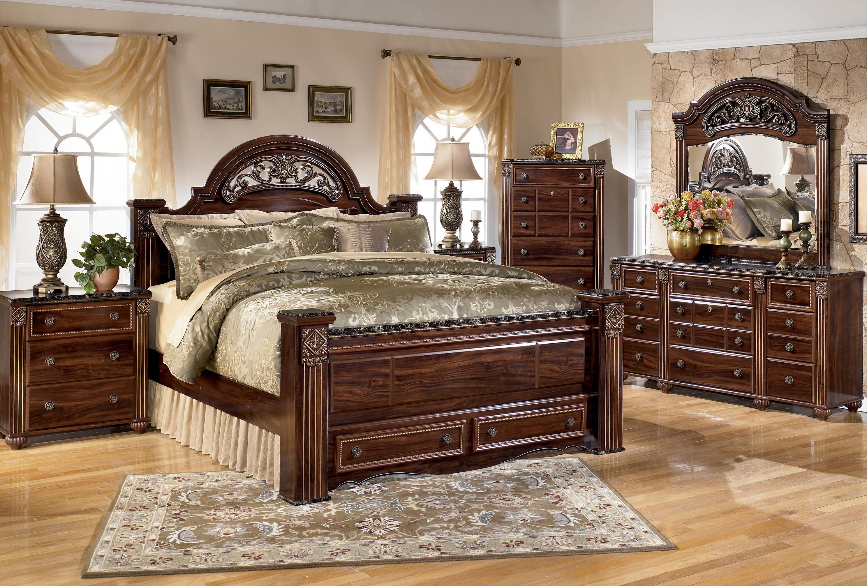 New Bedroom Set Gabriela King Bedroom Group By Signature Design By Ashley The