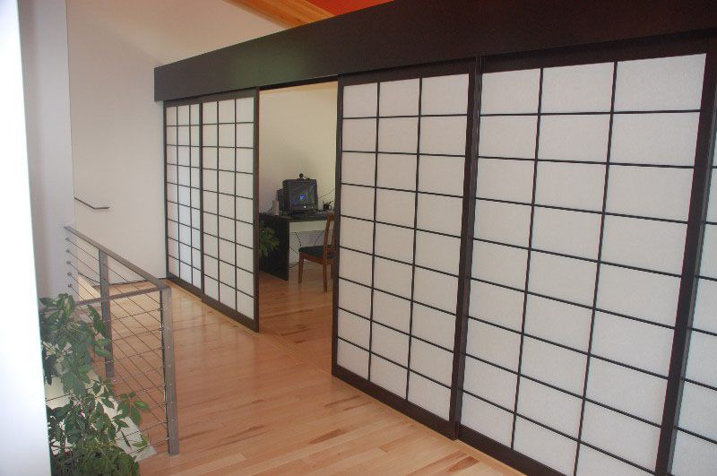 Home Office Is Behind These Shoji Screens You Can Hide The Without Making Hallway Too Dark Because Natural Light Still Comes Through
