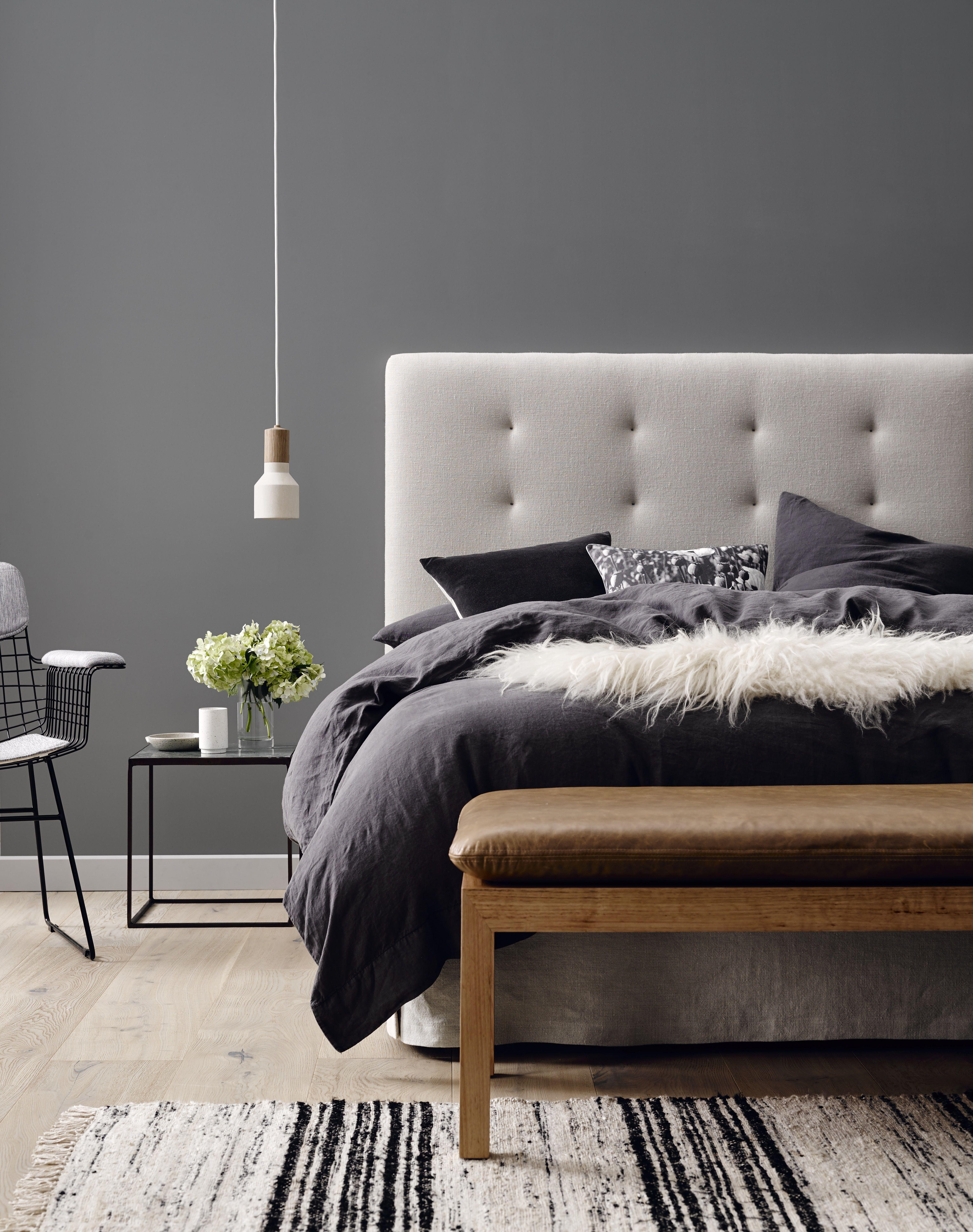 Harper bedhead in washed birch linen at 1400 high teamed for Bedroom bedhead design