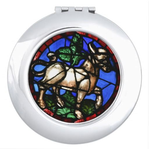Stained Glass Windows Notre-Dame Compact Mirror