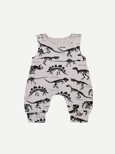 Newborn Kids Baby Boy/&Girl Dinosaur Print Jumpsuit Romper Summer Clothes Outfits