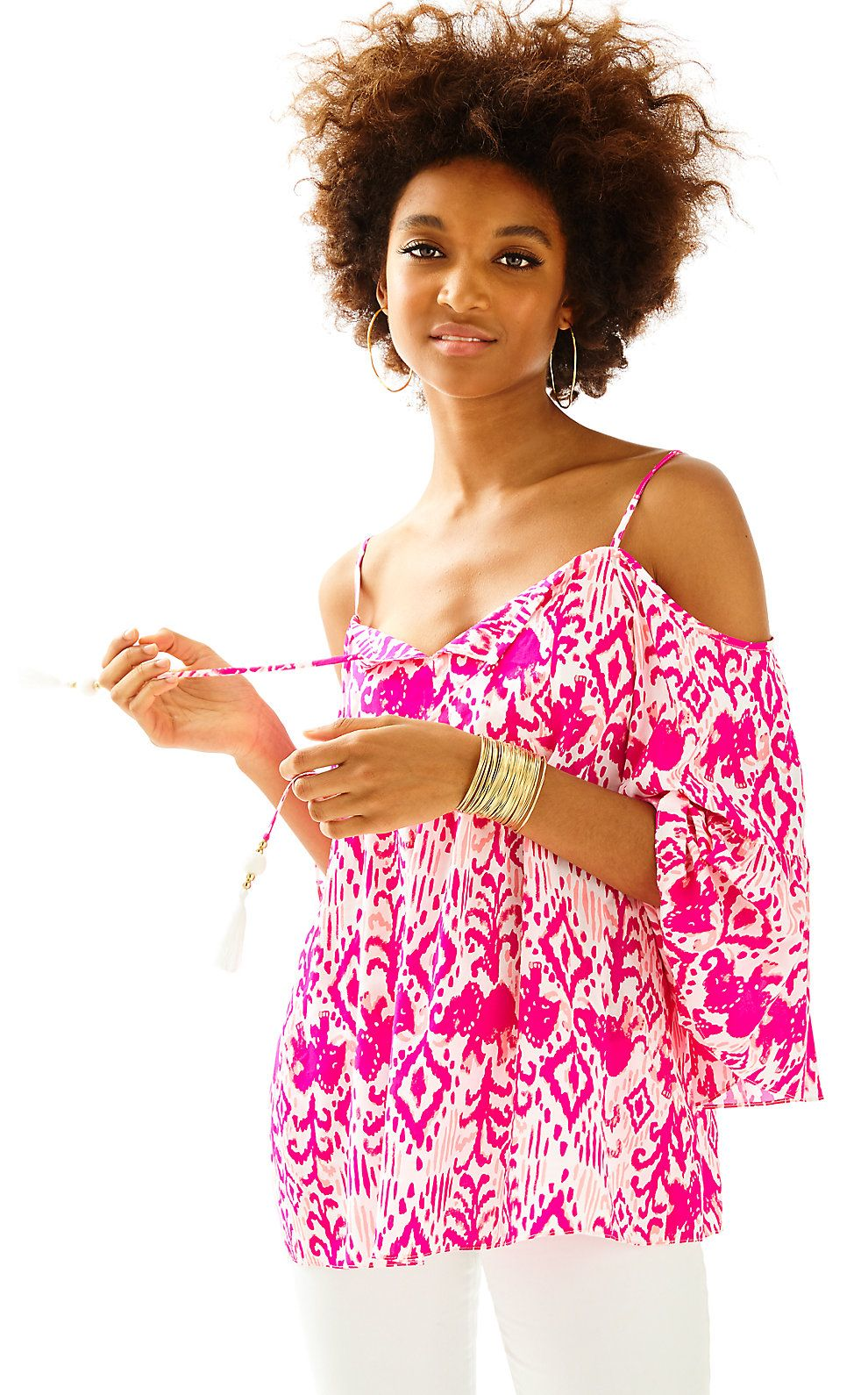 a052902c240dd Lilly Pulitzer Womens Alanna Off The Shoulder Top Resort Wear For Women