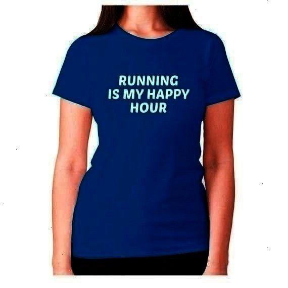 tee ladies workout  Running is my happy hour  womens premium tshirt  Womens funny gym tshirt slogan tee ladies workout  Running is my happy hour  womens premi Womens funn...