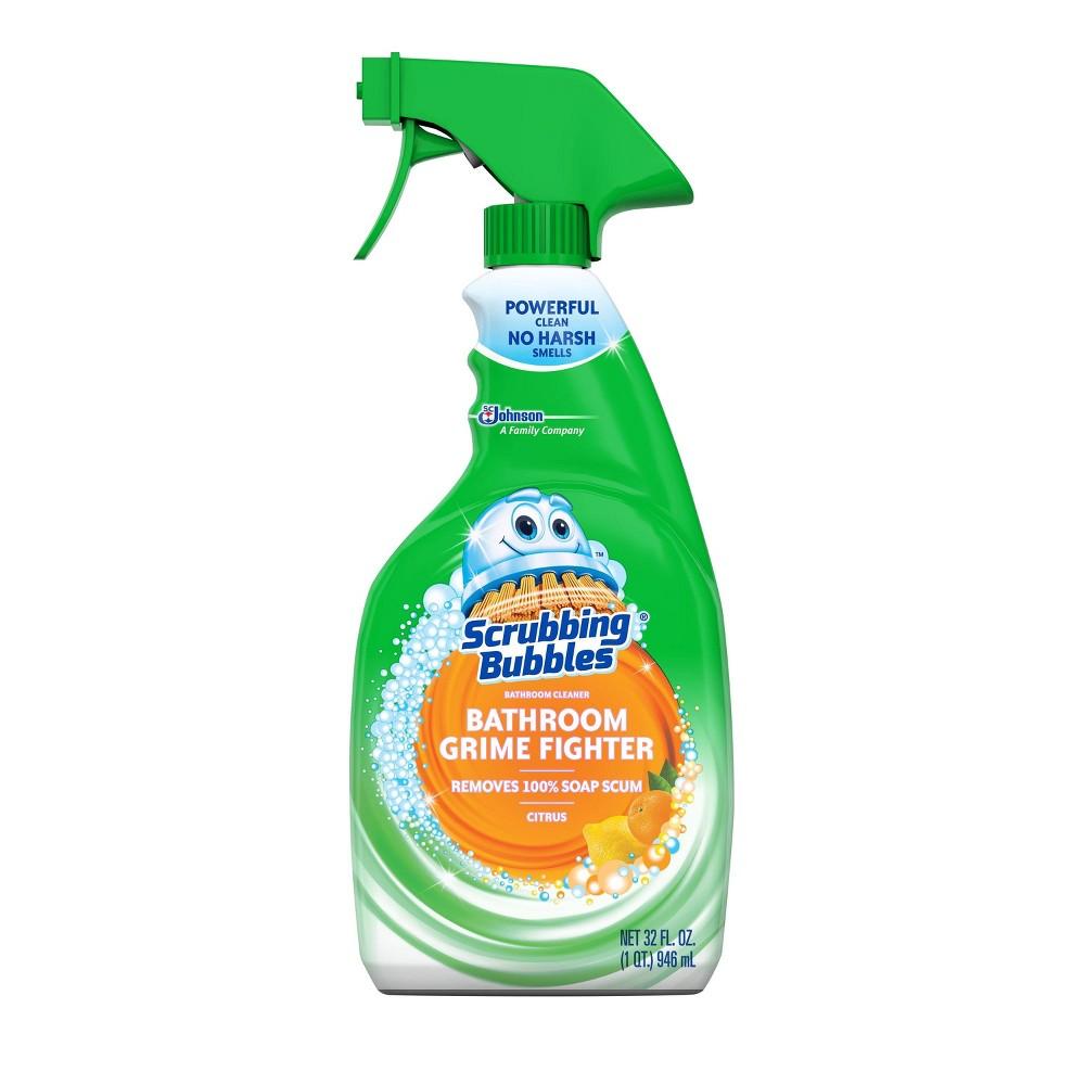 Scrubbing Bubbles Bathroom Grime Fighter Spray Citrus 32 Fl Oz In 2020 Scrubbing Bubbles Bathroom Cleaner Scrubbing Bubbles Bathroom Cleaner