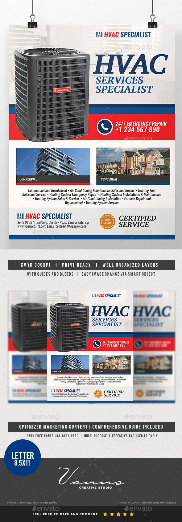 Air Air Conditioning Air Filter Compressor Cool Cooling Flyer Fresh Heat Heating Home Heating Maintenance Flyer Design Templates Flyer Hvac Services