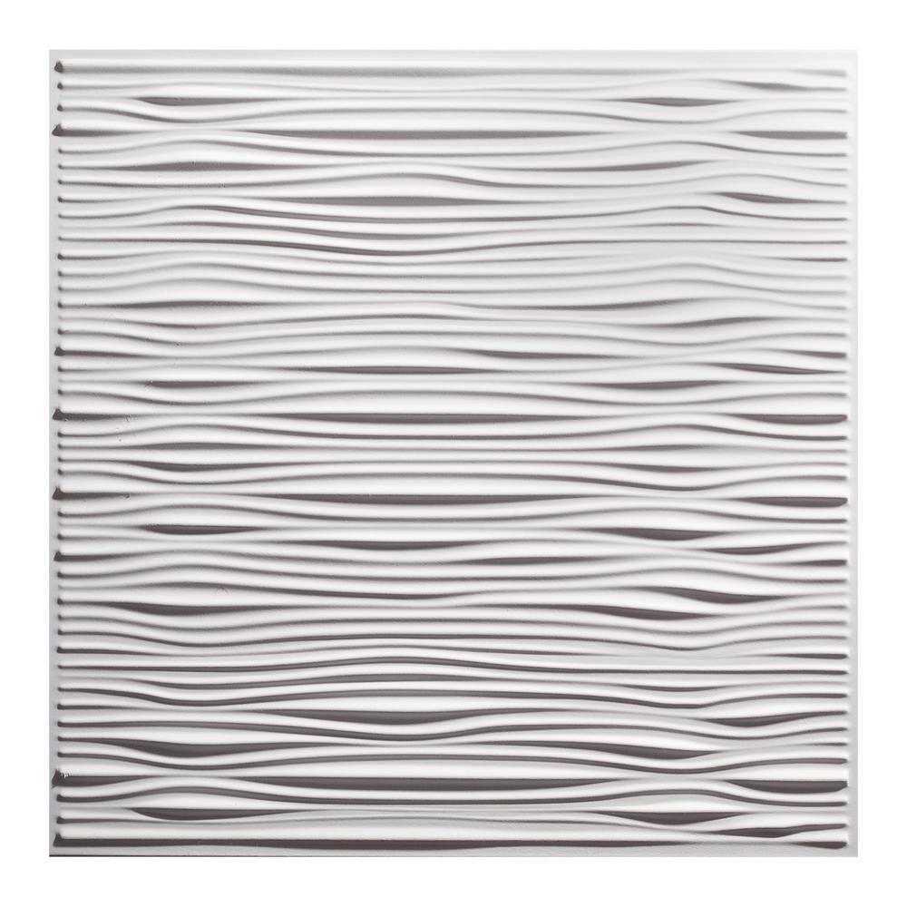 Genesis 23 75in X 23 75in Drifts Lay In Vinyl White Ceiling Tile Case Of 12 In 2020 Ceiling Tiles Drop Ceiling Tiles Ceiling Panels