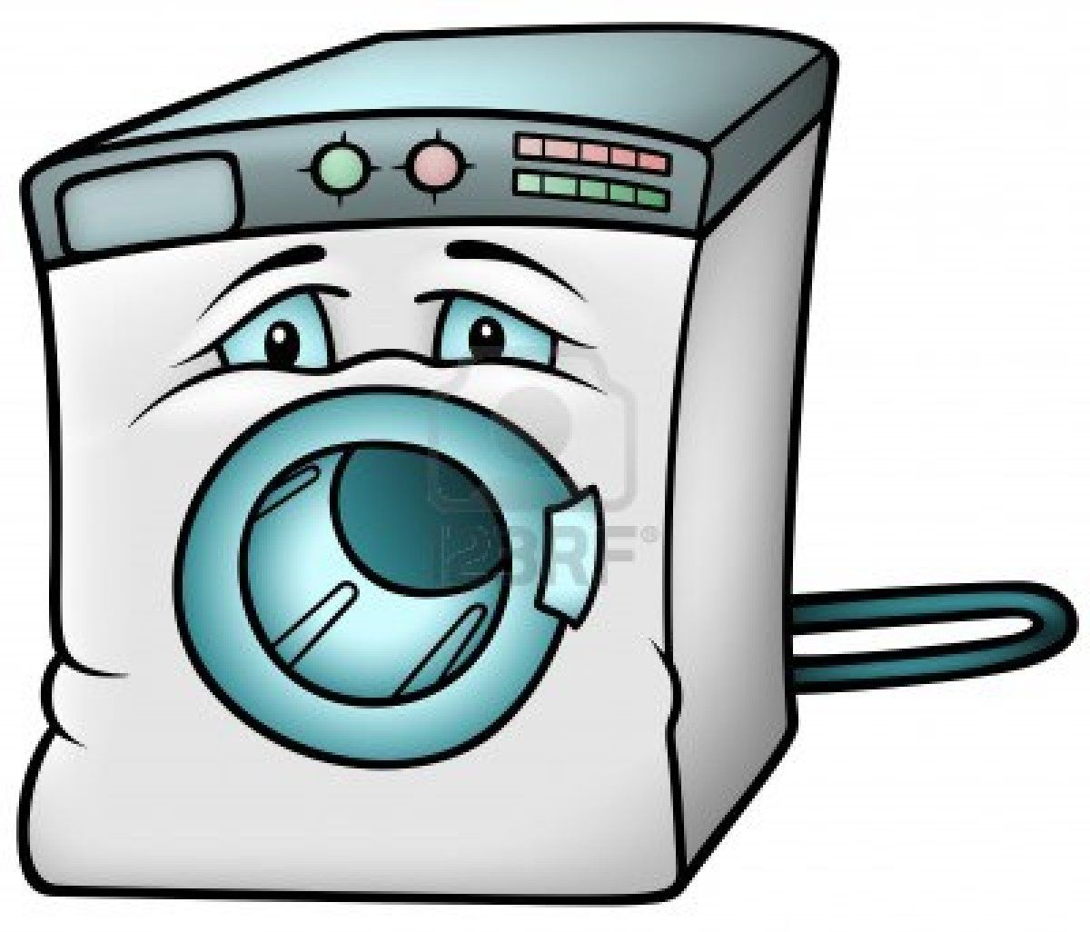 Washing Machine Colored Cartoon Illustration Cartoon Illustration Cartoon Illustration