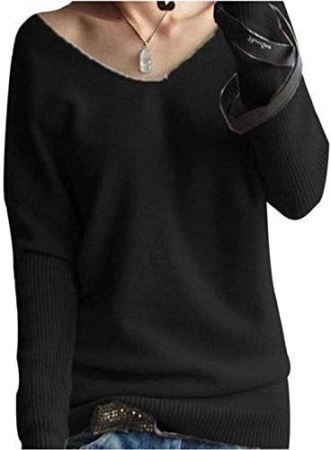 LinyXin Cashmere Damen Winter Kaschmir übergroße Pullover