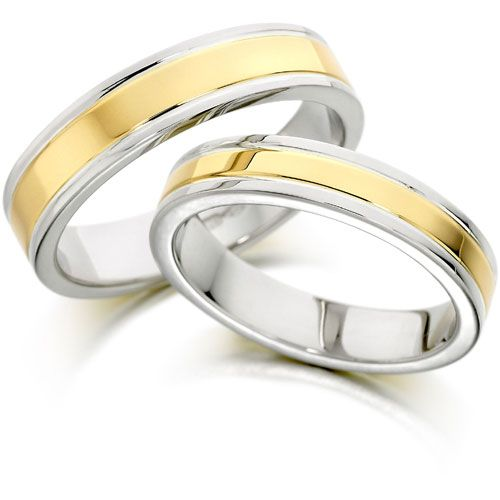 images of wedding rings two tone wedding rings tungsten wedding ring princess cut wedding - Two Tone Wedding Rings