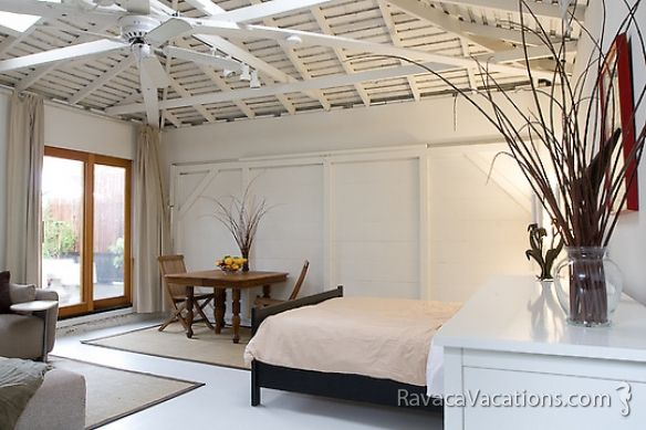 Small Garage Converted To Simple Guest House Bedroom