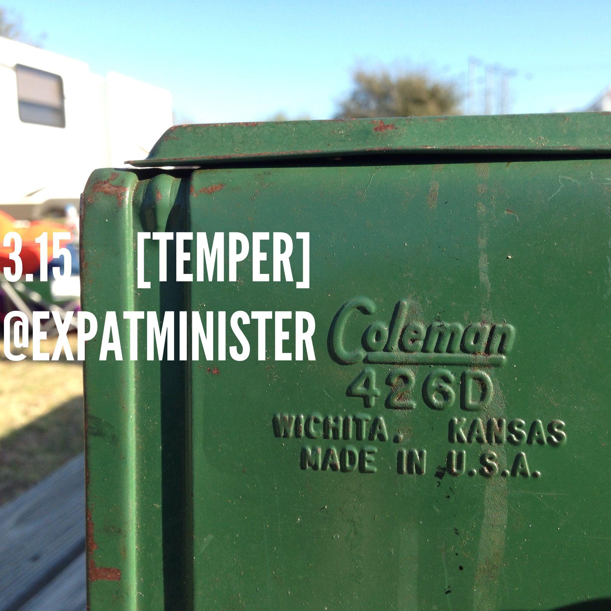 3.15 [temper] use as a verb