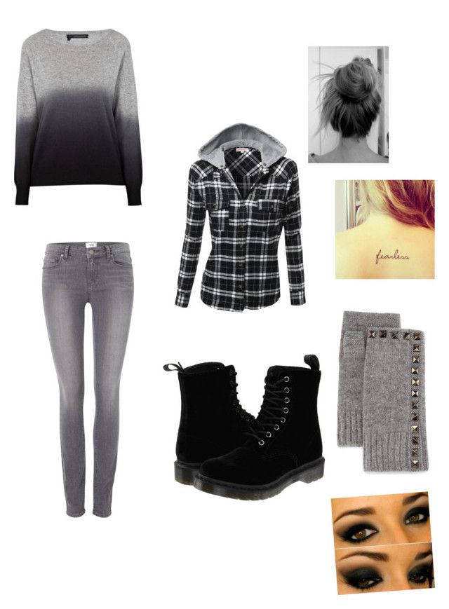 Untitled #379 by liliforeverz on Polyvore featuring polyvore, fashion, style, 360 Sweater, Paige Denim, Dr. Martens, Neiman Marcus, women's clothing, women's fashion, women, female, woman, misses and juniors