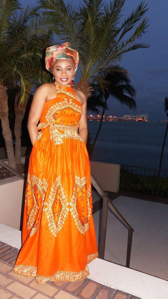 Ankara Maxi Dress Sexy Formal African Dress African Evening Dress